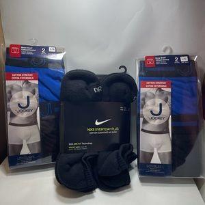 BNIB Nike socks 6 prs and 4 Large Jockey underwear